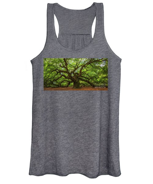 The Magical Angel Oak Tree Panorama  Women's Tank Top