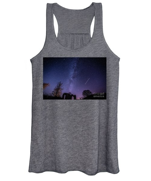 The Milky Way Over Strata Florida Abbey, Ceredigion Wales Uk Women's Tank Top
