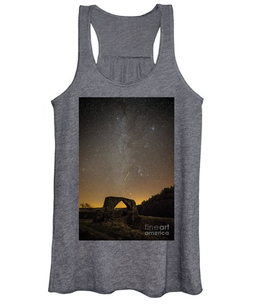 The Milky Way Over The Hafod Arch, Ceredigion Wales Uk Women's Tank Top