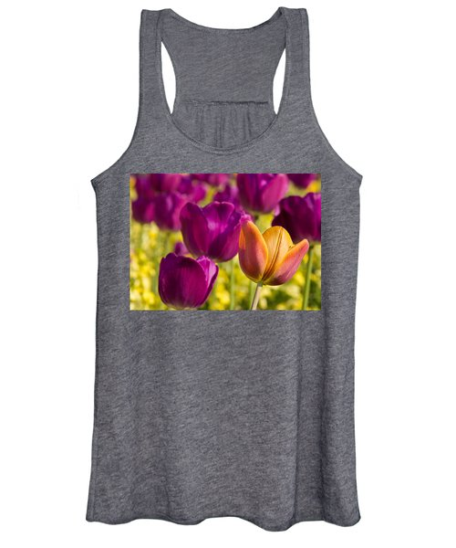 The Odd Yellow Tulip Women's Tank Top