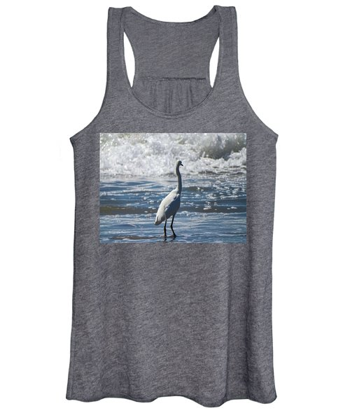 Egret And The Waves Women's Tank Top