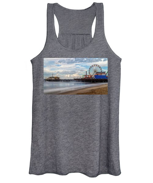 The Pier On A Cloudy Day Women's Tank Top