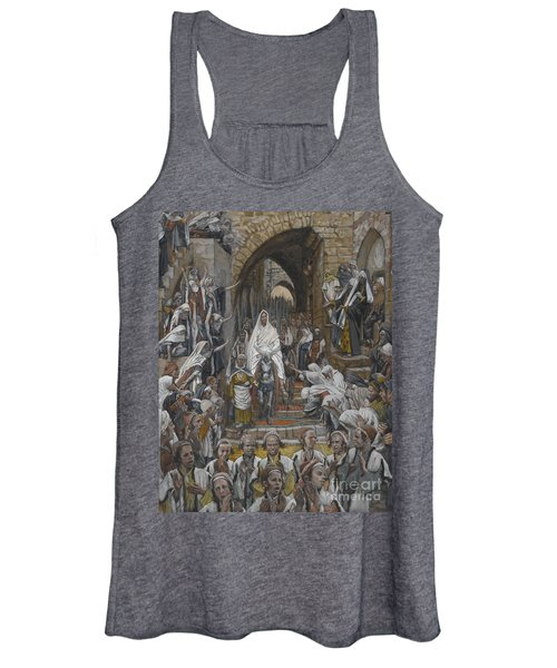 The Procession In The Streets Of Jerusalem Women's Tank Top