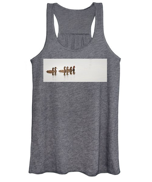 The Redhead And His Ladies - Aythya Americana   Women's Tank Top