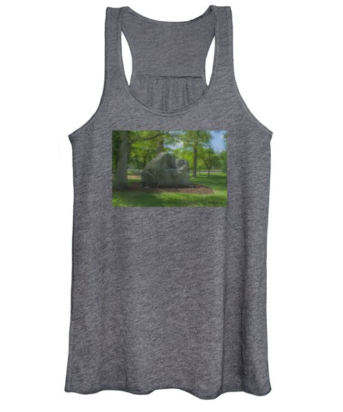 The Rock At Frothingham Park, Easton, Ma Women's Tank Top