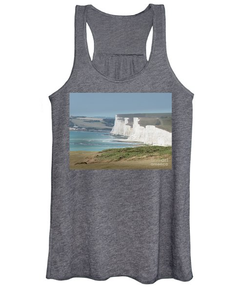 Women's Tank Top featuring the photograph The Seven Sisters White Cliffs by Perry Rodriguez