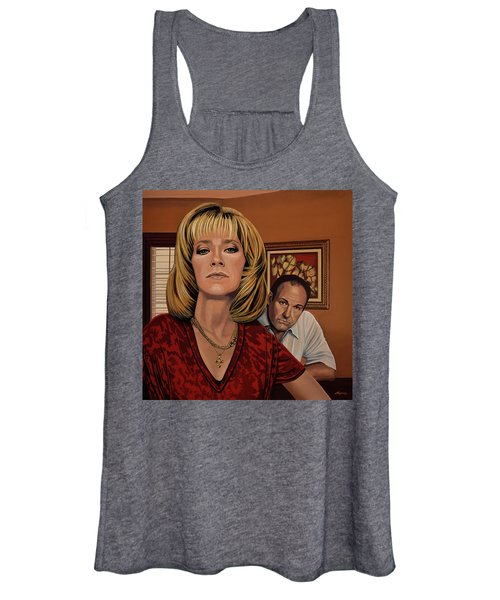 The Sopranos Painting Women's Tank Top