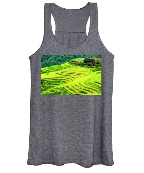 The Terraced Fields Scenery In Autumn Women's Tank Top