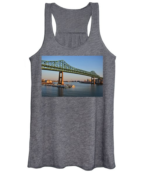 The Tobin Bridge Into The Sunset Chelsea Yacht Club Women's Tank Top
