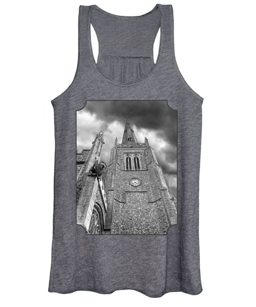 The Wrath Of God - Thaxted Church In Black And White Women's Tank Top