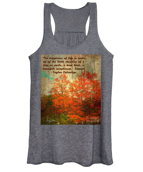 The Happiness Of Life By Taylor Coleridge Women's Tank Top