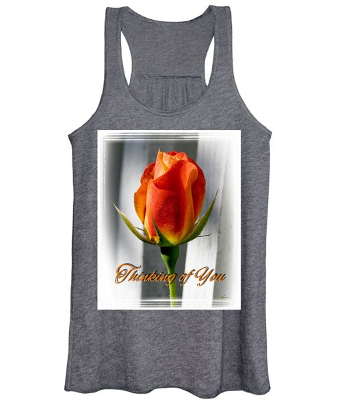 Thinking Of You, Rose Women's Tank Top