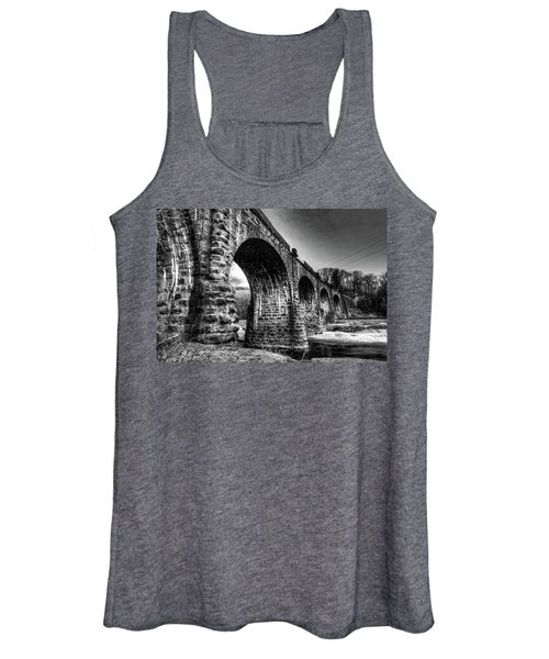 Thomas Viaduct In Black And White Women's Tank Top