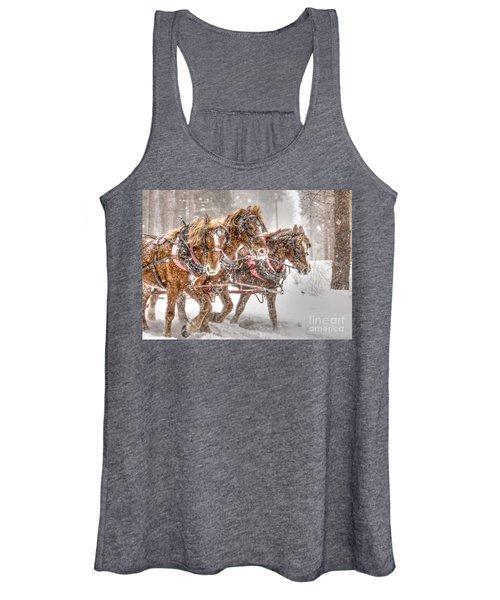 Three Horses - Color Women's Tank Top