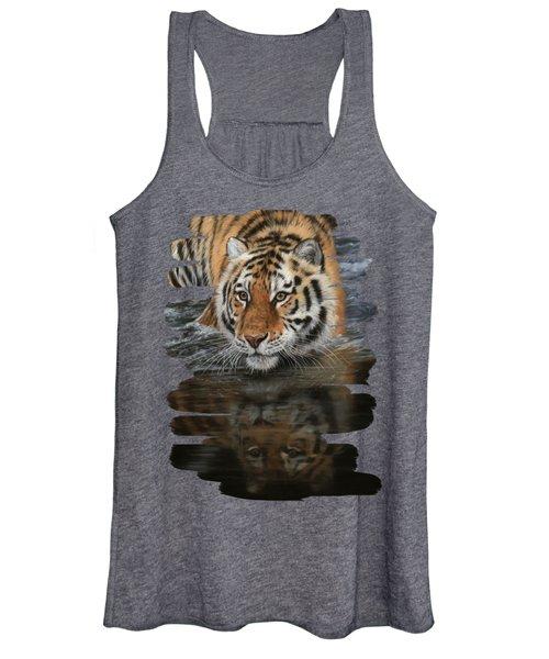 Tiger In Water Women's Tank Top