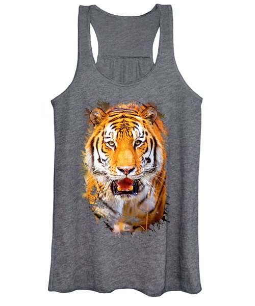 Tiger On The Hunt Women's Tank Top