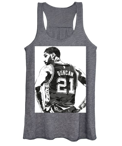 Tim Duncan San Antonio Spurs Pixel Art 2 Women's Tank Top