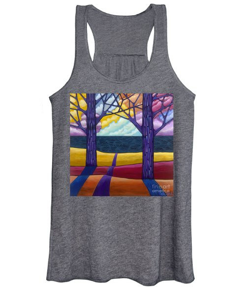 Women's Tank Top featuring the painting Together Forever by Carla Bank