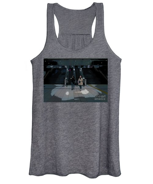 Women's Tank Top featuring the photograph Tokyo Metro, Japan Poster by Perry Rodriguez