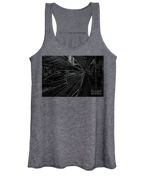 Women's Tank Top featuring the photograph Tokyo To Kyoto, Bullet Train, Japan Negative by Perry Rodriguez