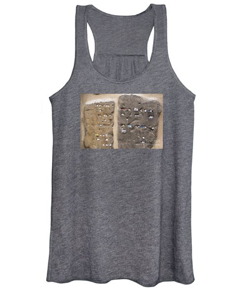 Tombstone Wall In Old Jewish Cemetery. Prague Women's Tank Top