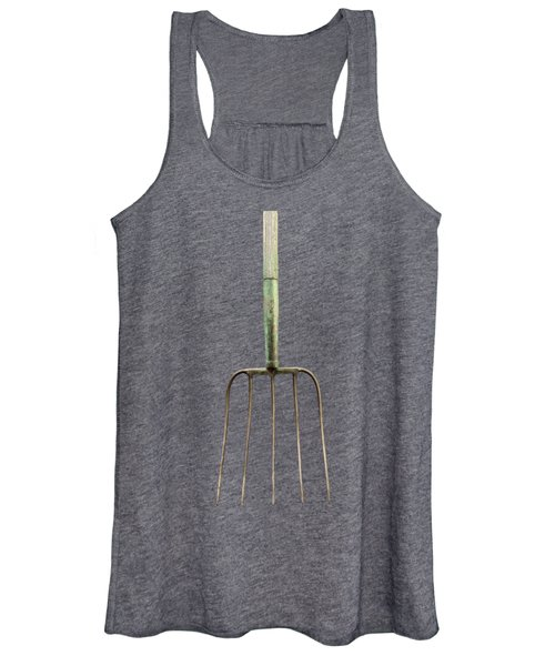 Tools On Wood 7 On Bw Women's Tank Top