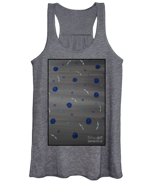 Tranquil Acrylic Abstract Women's Tank Top