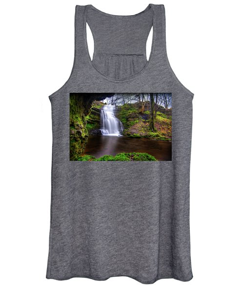 Tranquil Slow Soft Waterfall Women's Tank Top