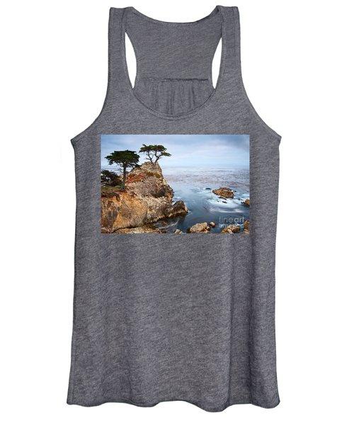 Tree Of Dreams - Lone Cypress Tree At Pebble Beach In Monterey California Women's Tank Top