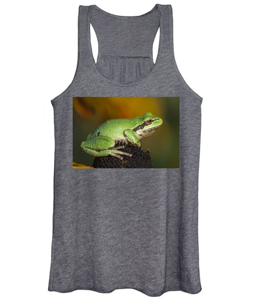 Treefrog On Rudbeckia Women's Tank Top
