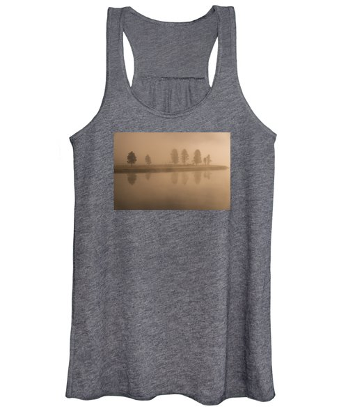 Trees And Fog Women's Tank Top