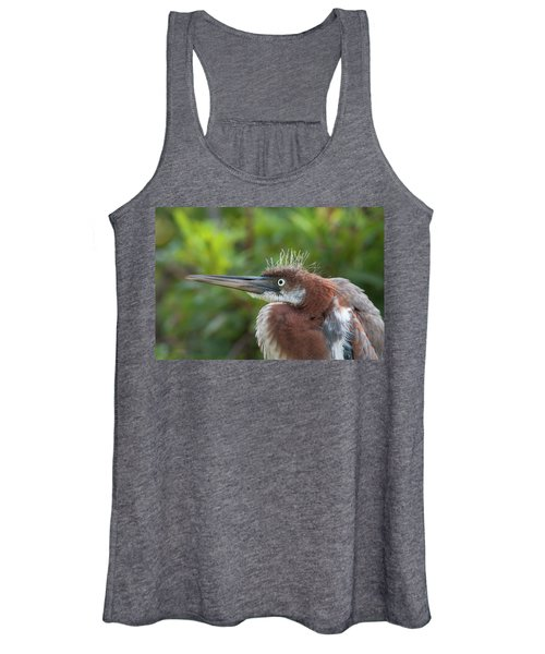 Tricolored Heron - Bad Hair Day Women's Tank Top