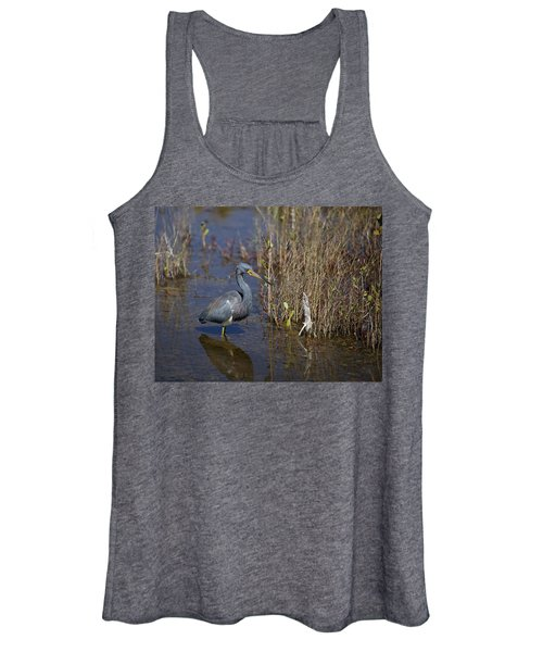 Tricolored Heron Wading Women's Tank Top