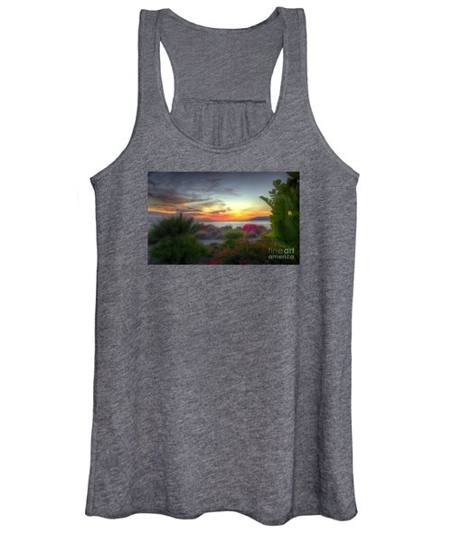 Tropical Paradise Sunset Women's Tank Top