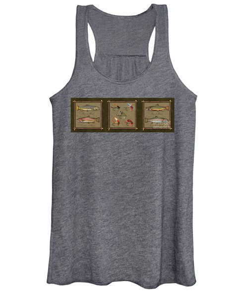 Trout Fly Panel Women's Tank Top