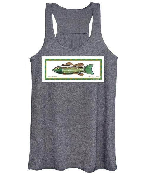Trout Ice Fishing Decoy Women's Tank Top