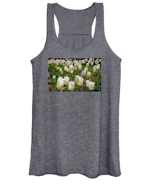 Tulips In White Women's Tank Top