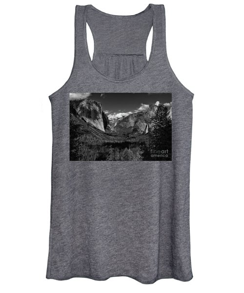 Tunnel View Black And White  Women's Tank Top