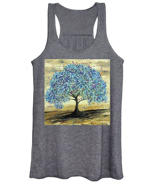Turquoise Tree Women's Tank Top