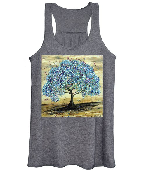 Turquoise Tree Women's Tank Top