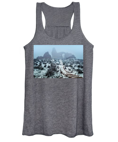 Turret Arch In The Fog Women's Tank Top