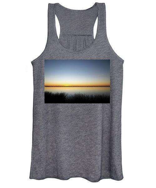 Twilight Stillness Down By The Beach Lagoon Women's Tank Top