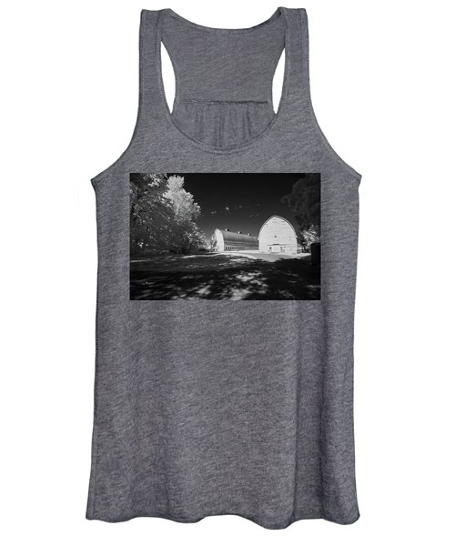 Women's Tank Top featuring the photograph Twin Barns by Bob Cournoyer