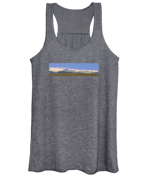 Twin Peaks Panorama View From The Agriculture Plains Women's Tank Top