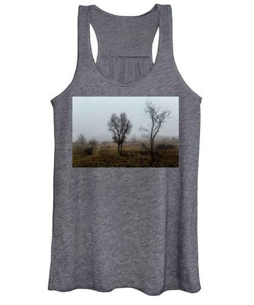Two Trees In The Fog Women's Tank Top