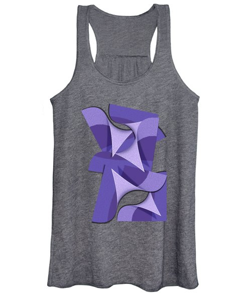 Ultra Violet Abstract Waves Women's Tank Top