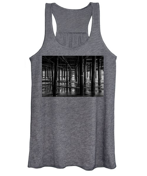 Under The Pier - Black And White Women's Tank Top