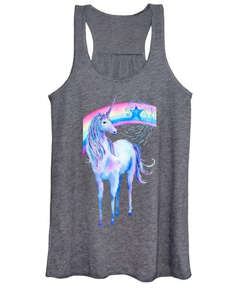 Unicorn And Rainbow Women's Tank Top