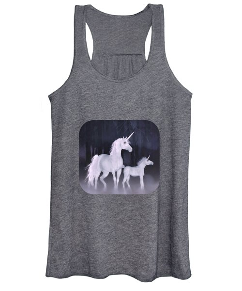 Unicorns In The Mist Women's Tank Top