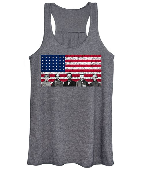Union Heroes And The American Flag Women's Tank Top